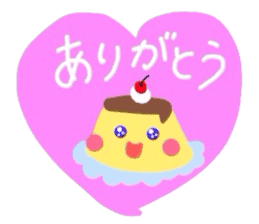 cute flan sticker sticker #10204810