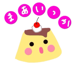 cute flan sticker sticker #10204812