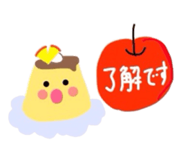 cute flan sticker sticker #10204818