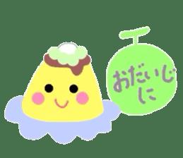 cute flan sticker sticker #10204819