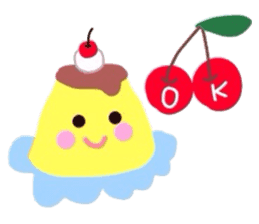 cute flan sticker sticker #10204820