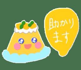 cute flan sticker sticker #10204821