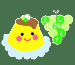 cute flan sticker sticker #10204824