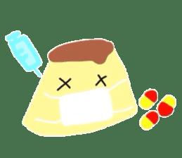 cute flan sticker sticker #10204829