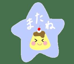 cute flan sticker sticker #10204830