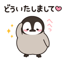 healing penguin to contact sticker #10207046