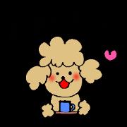 สติ๊กเกอร์ไลน์ Honorific sticker of the poodle.