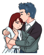 Soulmate - Romantic Couple sticker #10207504