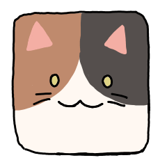 Rough cat sticker