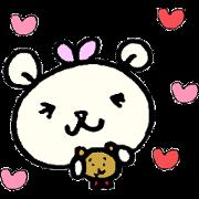 สติ๊กเกอร์ไลน์ cream colored bear ru-chan