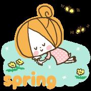 สติ๊กเกอร์ไลน์ Cute girly stickers5