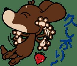 "The M.Dachshund's name is ""Gaku"". Part2 sticker #10242181"