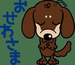 "The M.Dachshund's name is ""Gaku"". Part2 sticker #10242213"