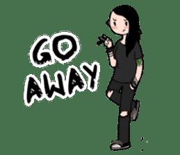Ash is a punk rocker sticker #10266195