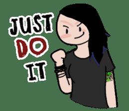 Ash is a punk rocker sticker #10266211