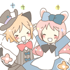 Cat ear girl Necoco&Rabbit ear girl Rosy