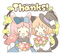 Cat ear girl Necoco&Rabbit ear girl Rosy sticker #10270616