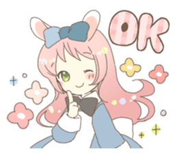 Cat ear girl Necoco&Rabbit ear girl Rosy sticker #10270617
