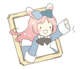 Cat ear girl Necoco&Rabbit ear girl Rosy sticker #10270620