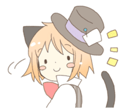 Cat ear girl Necoco&Rabbit ear girl Rosy sticker #10270621