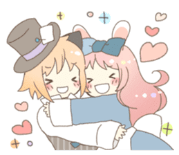 Cat ear girl Necoco&Rabbit ear girl Rosy sticker #10270625