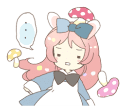 Cat ear girl Necoco&Rabbit ear girl Rosy sticker #10270633