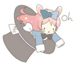 Cat ear girl Necoco&Rabbit ear girl Rosy sticker #10270636