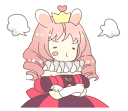 Cat ear girl Necoco&Rabbit ear girl Rosy sticker #10270642