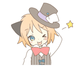 Cat ear girl Necoco&Rabbit ear girl Rosy sticker #10270643