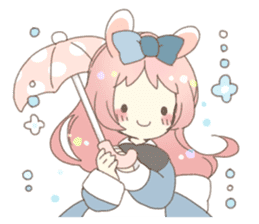 Cat ear girl Necoco&Rabbit ear girl Rosy sticker #10270647