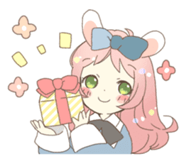 Cat ear girl Necoco&Rabbit ear girl Rosy sticker #10270648