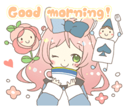Cat ear girl Necoco&Rabbit ear girl Rosy sticker #10270652