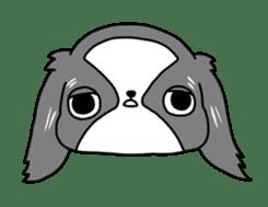Japanese chin Mochio vol.2 sticker #10275587