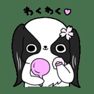Japanese chin Mochio vol.2 sticker #10275591