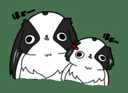 Japanese chin Mochio vol.2 sticker #10275607