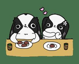 Japanese chin Mochio vol.2 sticker #10275609