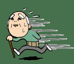 Grandpa of low back pain2(ENG) sticker #10278030