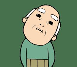 Grandpa of low back pain2(ENG) sticker #10278034