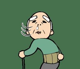 Grandpa of low back pain2(ENG) sticker #10278044