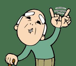 Grandpa of low back pain2(ENG) sticker #10278051