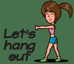 Healthy Sporty Girl sticker #10286622