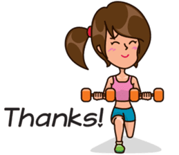 Healthy Sporty Girl sticker #10286623