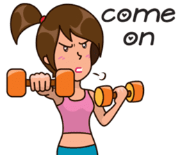 Healthy Sporty Girl sticker #10286631
