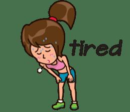 Healthy Sporty Girl sticker #10286640