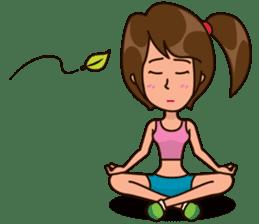 Healthy Sporty Girl sticker #10286647