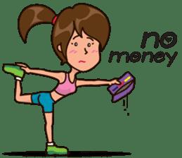 Healthy Sporty Girl sticker #10286650