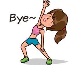 Healthy Sporty Girl sticker #10286655