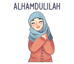 Expressive Hijab Girl sticker #10293504