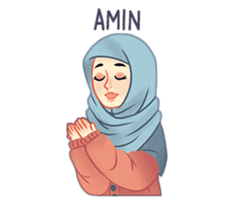 Expressive Hijab Girl sticker #10293505