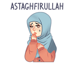 Expressive Hijab Girl sticker #10293506